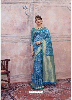 Fantastic Blue Silk Saree