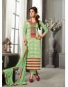 Green Chanderi Silk Salwar Kameez