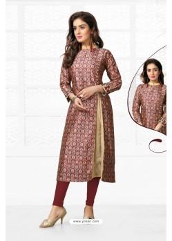 Pretty Multi Colour Chanderi Kurti