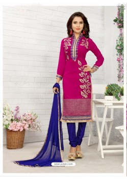 Incredible Rani Cotton Embroidered Suit