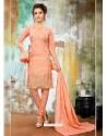 Exceptional Peach Cotton Suit