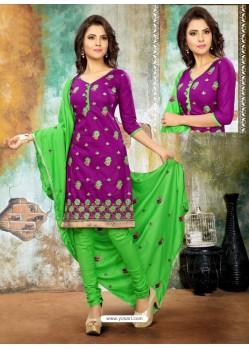 Fantastic Purple Cotton Suit