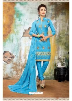 Fashionistic Blue Cotton Suit
