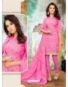 Eye Catching Pink Cotton Suit