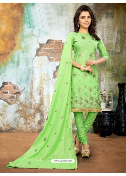 Perfect Sea Green Cotton Suit