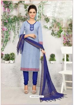 Magnificent Royal Blue Cotton Suit