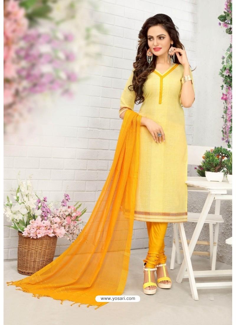 Charming Lemon Cotton Suit