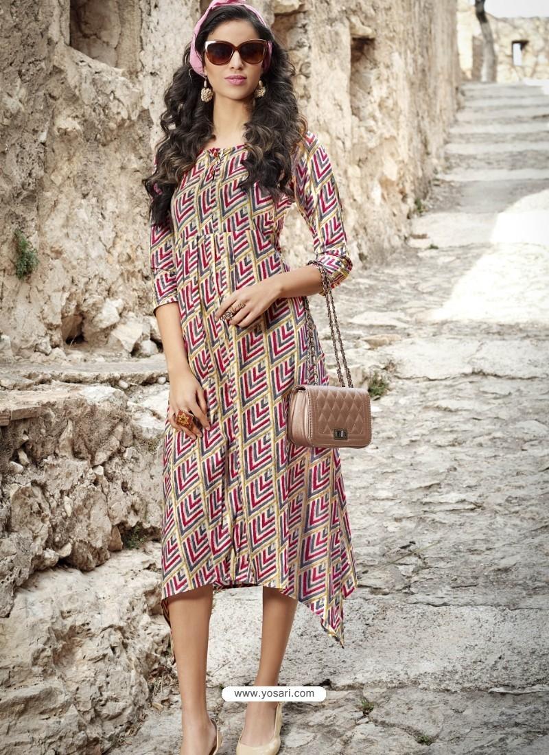 Elegant Multi Colour Cotton Kurti