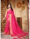 Delightful Fuchsia Silk Embroidered Saree