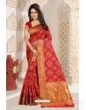 Eye Catching Crimson Silk Saree