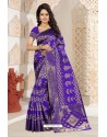 Perfect Violet Silk Saree