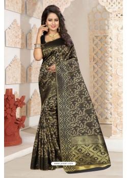 Excellent Black Silk Saree