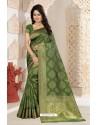 Fabulous Green Silk Saree