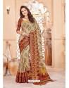 Stunning Beige Art Silk Saree