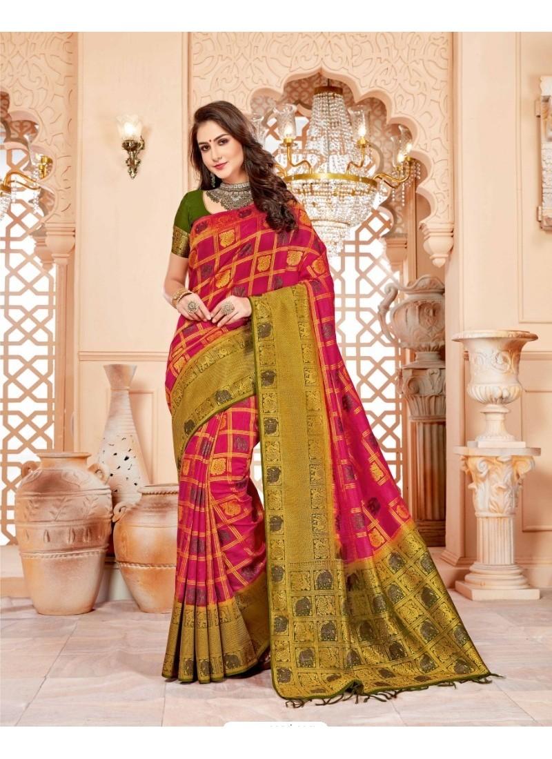 Spectacular Multi Colour Art Silk Saree