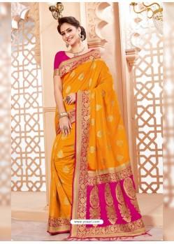 Mind Blowing Yellow Art Silk Saree