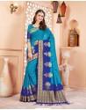 Elegant Blue Art Silk Saree