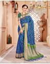 Splendid Dark Blue Art Silk Saree