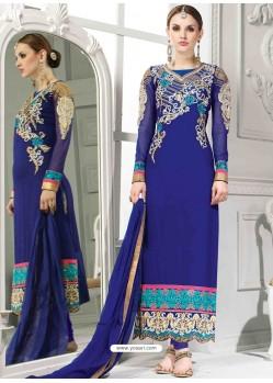 Blue Georgette Churidar Suit