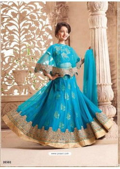 Eye Catching Turquoise Net Lehenga Choli