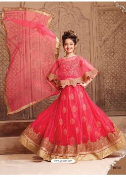 Desirable Dark Peach Net Lehenga Choli