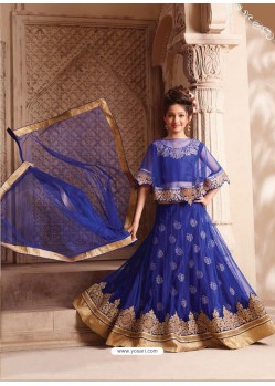 Phenomenal Dark Blue Net Lehenga Choli