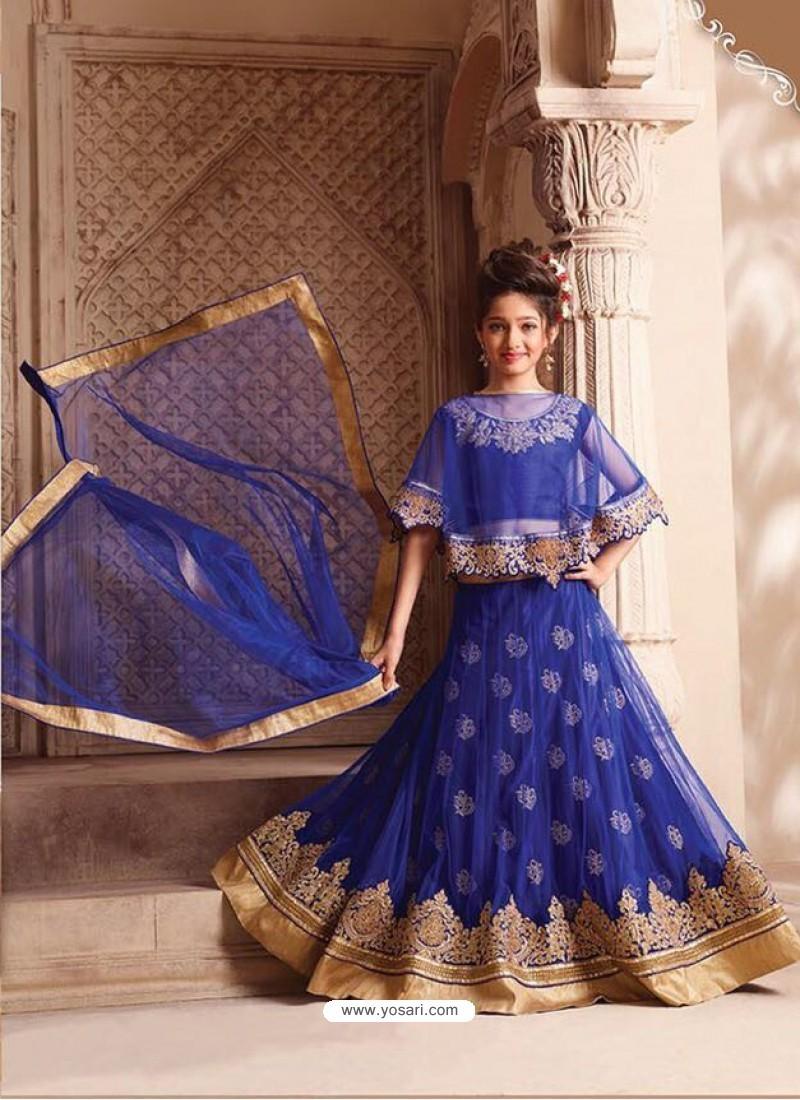 Phenomenal Dark Blue Net Lehenga Choli