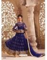 Fabulous Navy Blue Net Lehenga Choli
