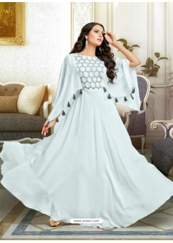 Attractive Off White Muslin Gown