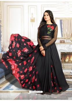 Glamorous Black Muslin Gown