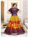 Graceful Multi Colour Muslin Gown