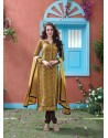 Brown Cotton Salwar Kameez