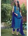 Sky Blue Cotton Salwar Kameez