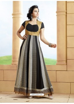 Rakul Preet Black Georgette Embroidered Floor Length Suit