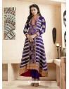 Rakul Preet Violet Georgette Embroidered Anarkali Suit