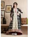 Zareen Khan Black Georgette Embroidered Floor Length Suit