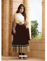 Deep Scarlet Georgette Embroidered Anarkali Suit
