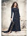 Priyanka Chopra Navy Blue Georgette Suit