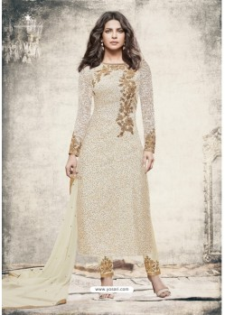 Priyanka Chopra Cream Brasso Suit