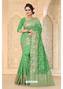 Desirable Green Zoya Art Silk Saree