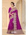 Fabulous Purple Zoya Art Silk Saree