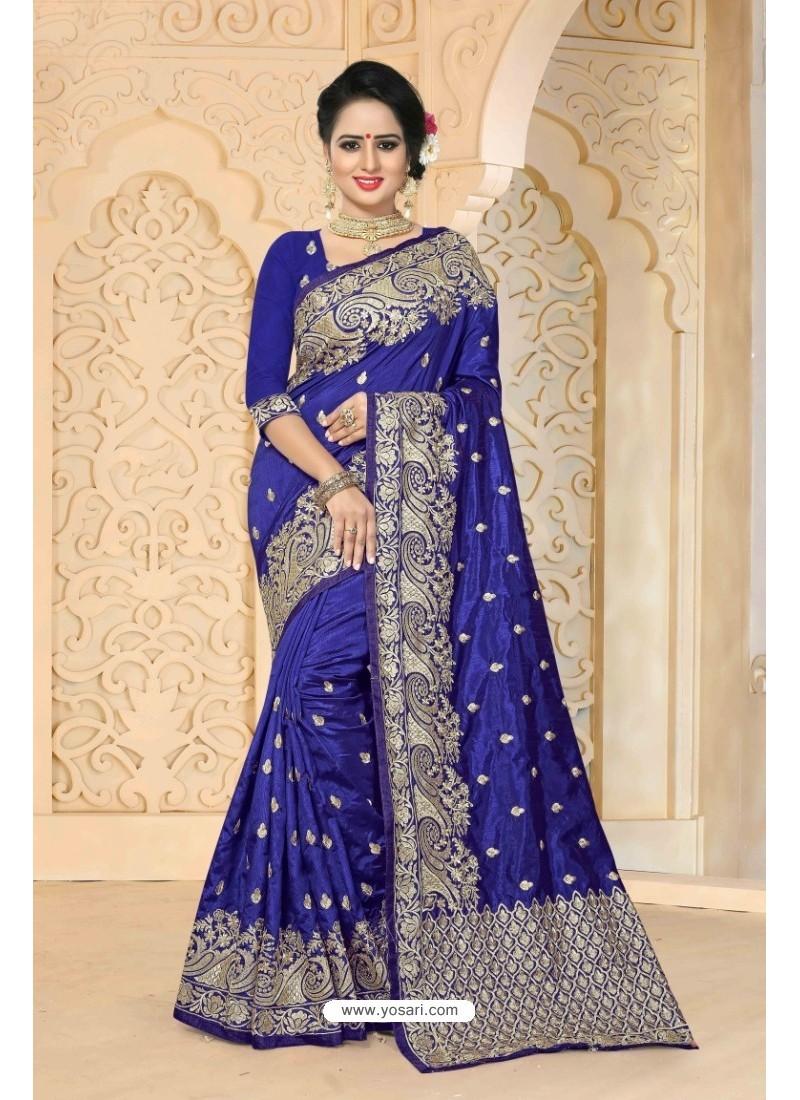 Astonishing Dark Blue Zoya Art Silk Saree
