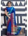 Extraordinary Royal Blue Silk Saree