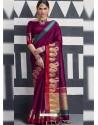 Unbelievable Purple Silk Saree