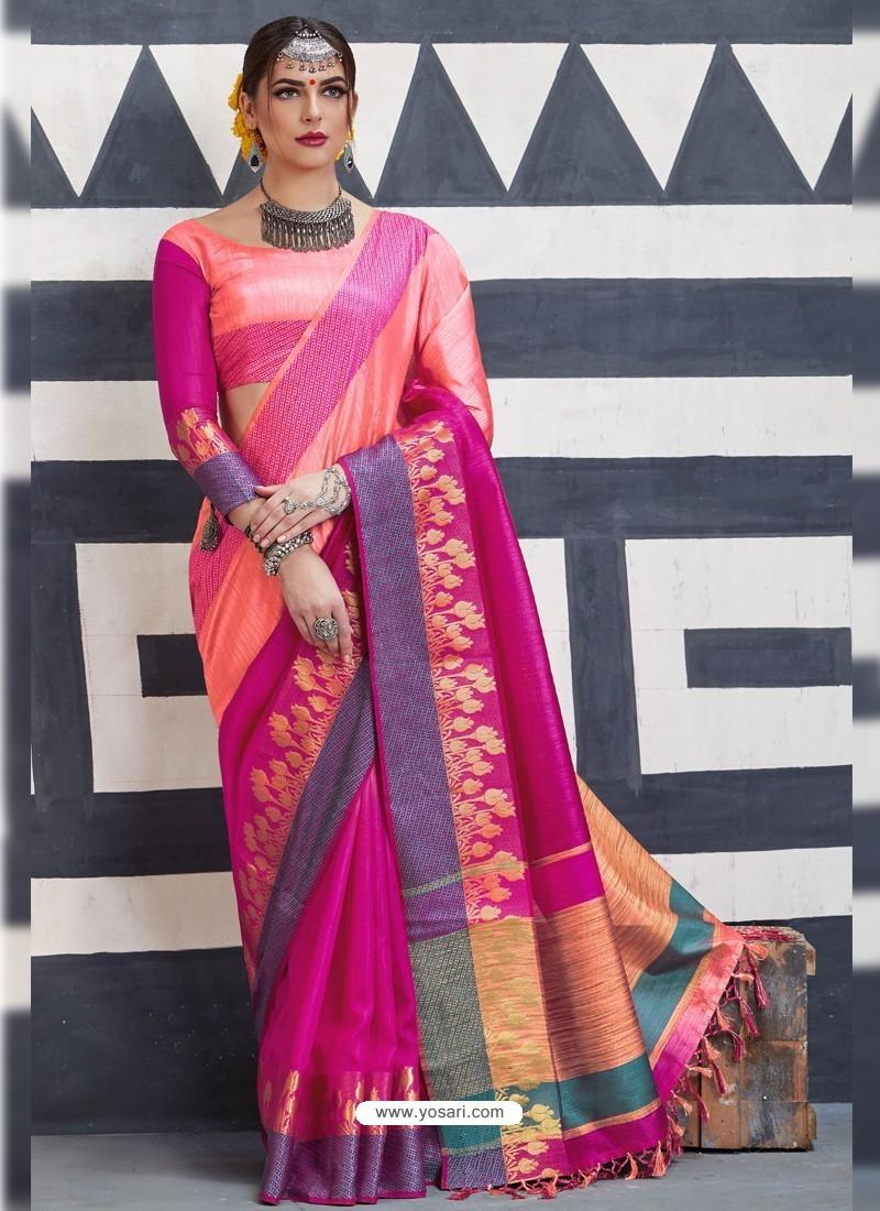 Hot Rani Silk Saree