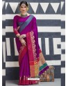 Stupendous Magenta Silk Saree