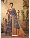 Traditional Navy Blue Silk Saree