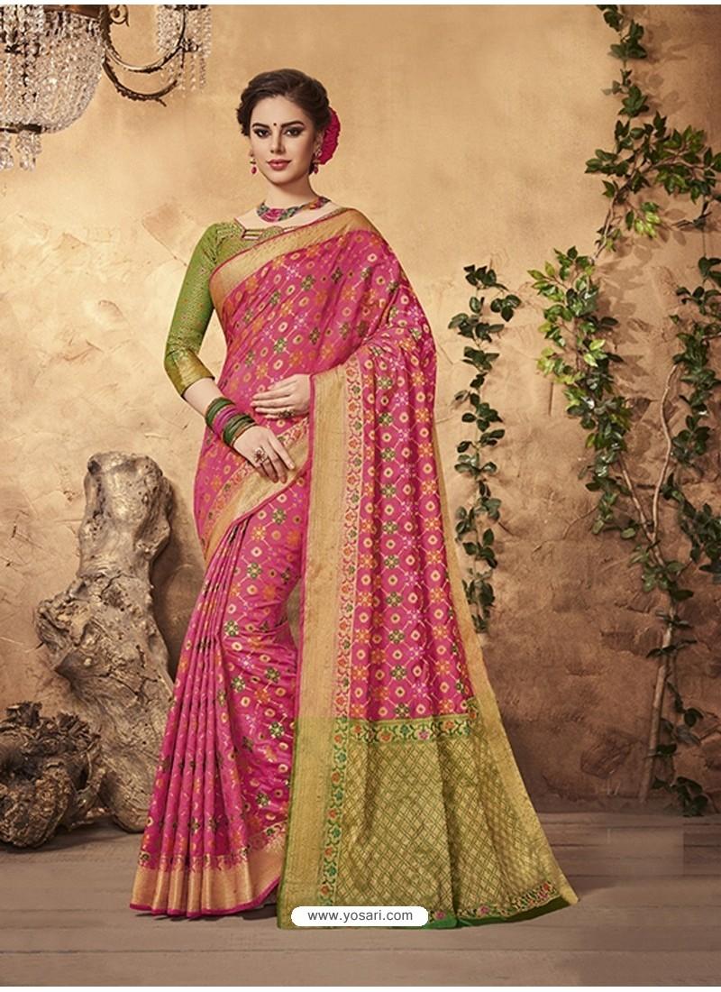 Traditional Rani Silk Saree