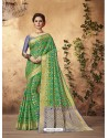 Traditional Green Silk Saree