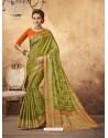 Glamorous Green Silk Saree